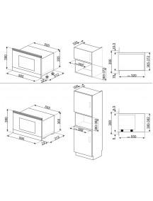 Встраиваемая микроволновая печь Smeg MP722PO