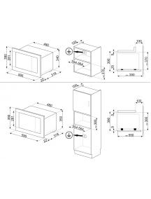 Встраиваемая микроволновая печь Smeg FMI120S2