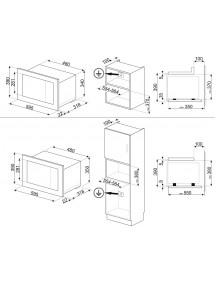 Встраиваемая микроволновая печь Smeg FMI320X2