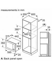 Встраиваемая микроволновая печь Bosch BFL623MV3