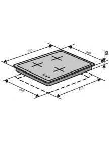 Варочная поверхность VENTOLUX  HG430-G3G CS (WH)