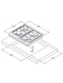 Варочная поверхность SYNTRA  SGH 461 White Glass